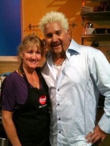 Gail and Guy Fieri on The Food Network