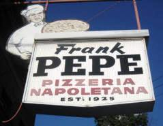Pepe's Sign on Wooster Street in New Haven