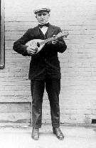 Antonio Palmieri with his mandolin!