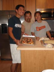 Making Pizza with the family...