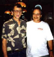 Albert Grande with Rick Consiglio at Sally's Apizza.