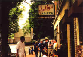 """The Line"" at Sally's Apizza!"