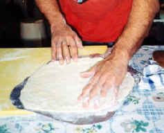 Transfer the basic pizza dough to a peel!